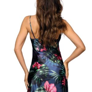 Donna Katie02 tropical szatén hálóruha