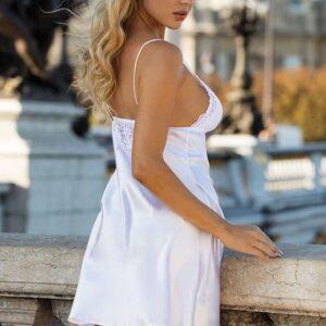 Dkaren Alice csipkés szatén hálóruha, fehér