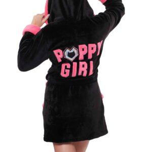 Poppy girl fekete köntös