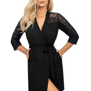 Donna Ivana köntös, fekete