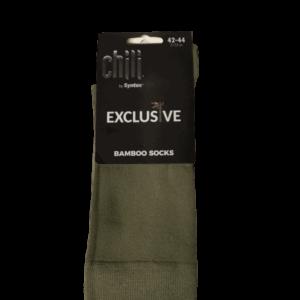 Syntex bambusz férfi zokni, khaki