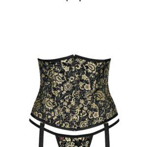Obsessive Shelle arany-fekete corset