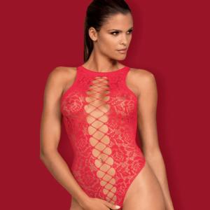 Obsessive szexi csipkés piros body