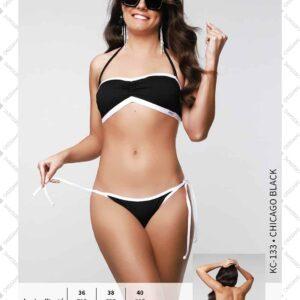Origami Chicago black bandeau bikini