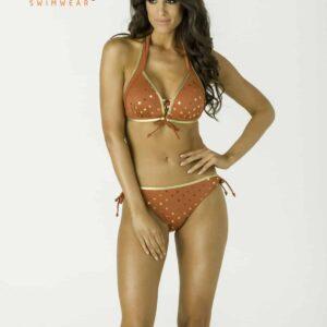Carib arany pöttyös bikini, terra
