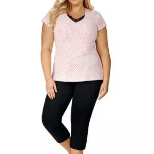 Donna Alice 3/4 pizsama, plus size