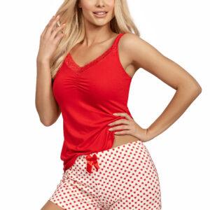 Donna Ester 1/2 pizsama, piros