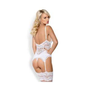 Obsessive fehér corset szett