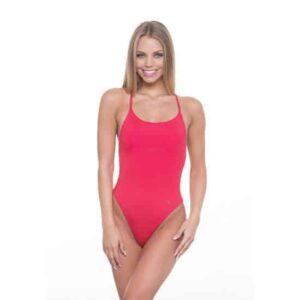 Poppy Braid egyrészes fürdőruha, piros
