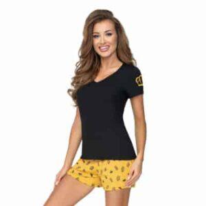 Donna Princessa 1/2 pizsama, fekete-sárga