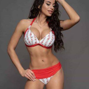 Pyramid Corse piros virágos bikini