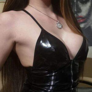 Obsessive Stormea bőrhatású body, fekete
