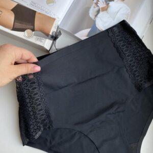 Julimex Opal panty magasított csipkés bugyi, fekete