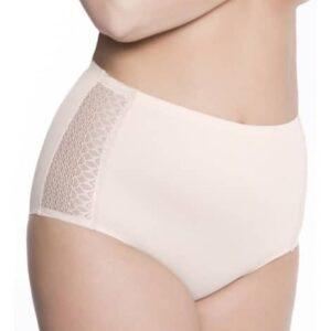Julimex Opal panty magasított csipkés bugyi, testszín